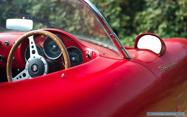 photo cabrio hot oldtimer porsche rot serien spyder